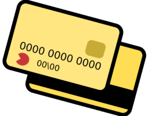 illustration of yellow credit cards
